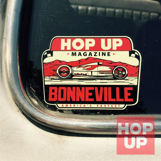 Hop Up Water Slide Decal, Bonneville