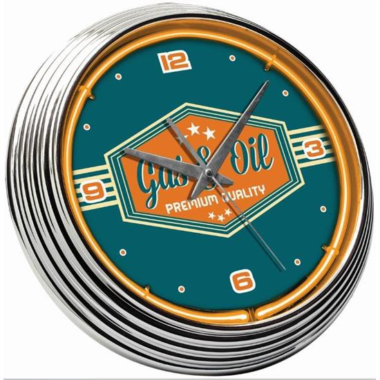 Gas & Oil Neon Clock