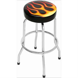 Fat Pad Bar Stool, Flames