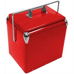 Retro Steel Red Legacy Cooler, 14 Inch