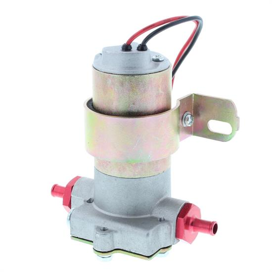 speedway red electric fuel pump, 7 psi, 97 gphuniversal fit, external electric fuel pump type, 7 psi maximum pressure, steel