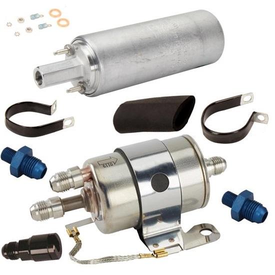 Hose Kit In-Line LS1 Full Flow Fuel Filter//Regulator /& Fittings Full Flow