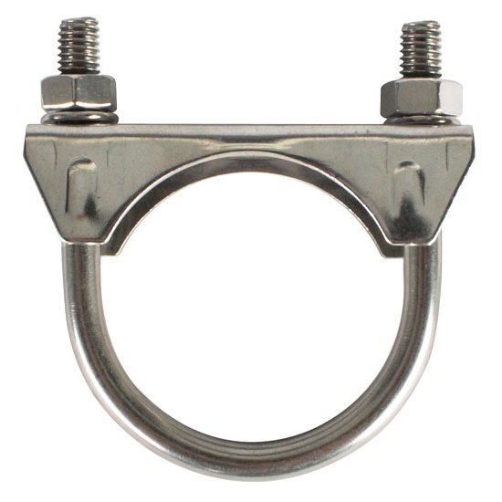 Raw stainless steel muffler exhaust clamp inch ebay