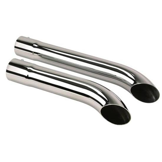 Slip-Over Kickout Extension Pipes, Chrome, 3-1/2 x 26 Inch