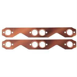 Small Block Chevy Copper Exhaust Gasket, Round Port