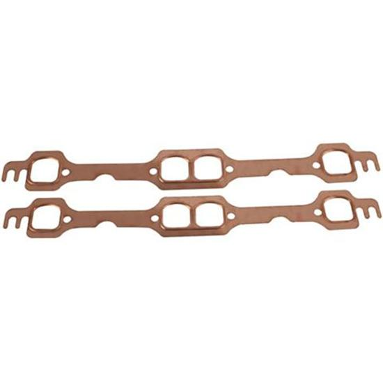 Small Block Chevy Copper Exhaust Gasket - D-Port Heads