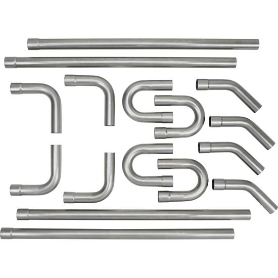 """2.50/"""" Diameter Universal U-Fit 16 Pieces Dual Pipe Kit Mandrel Bent Tube Tubing"""