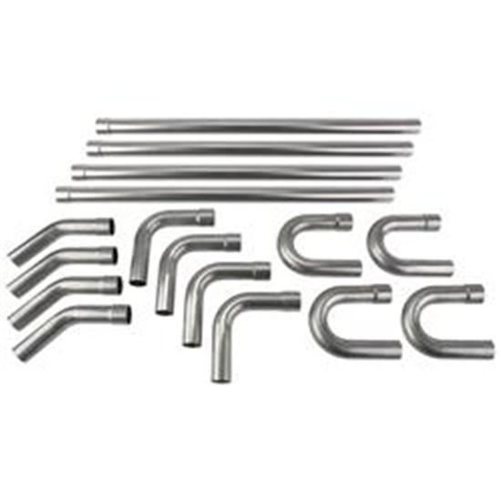 Universal Stainless Steel Dual Exhaust Mandrel Bend Kit, 2-1/4 Inch