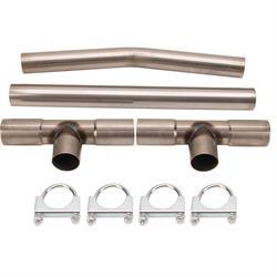 Universal Dual Exhaust H-Pipe Balance Tube Kit, 2-1/2 Inch