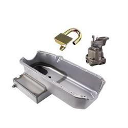 Hi Volume S/B Chevy Claimer Oil Pan Combo, RH Side Dipstick