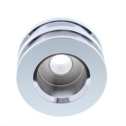 Chrome Dual Groove Alternator Pulley