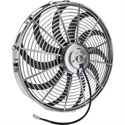 Chrome Straight Blade Electric Fan