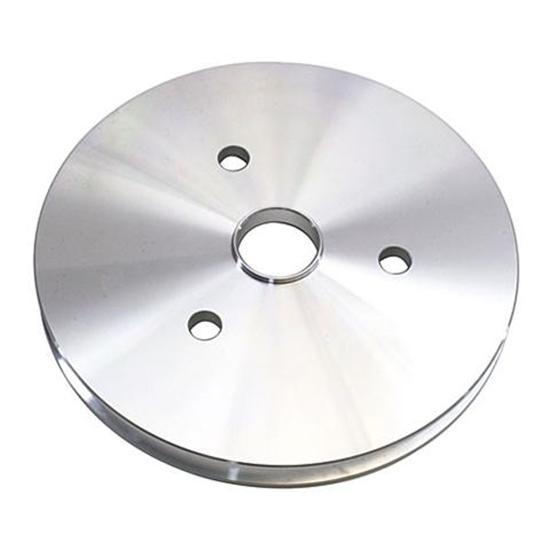 Small Block Chevy Aluminum Single Lower Pulley, Short Pump