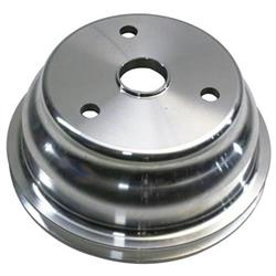 1969-1985 Small Block Chevy Aluminum Single Lower Pulley, Long Pump