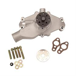 Short Water Pump for Small Block Chevy, Satin Finish, Aluminum