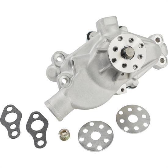 Small Block Chevy Performance Aluminum Water Pump, Short