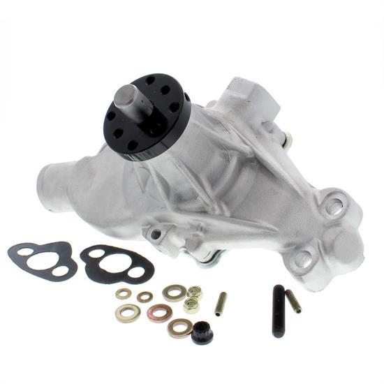 Speedway Small Block Chevy Short Aluminum Water Pump Polished