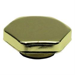 Hex Brass Radiator Cap, 15 Lbs.
