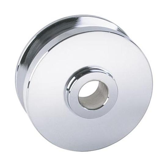 GM Alternator 5/8 Inch Wide Belt Pulley, Chrome