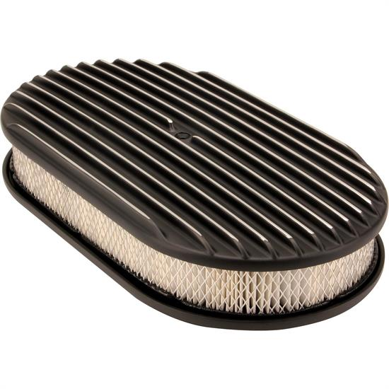 Fast Air Cleaners : Inch fully finned oval air cleaner set w paper filter
