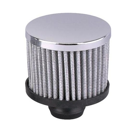 """Chrome Washable Valve Cover Breather Filter 1-1//2/"""" Clamp On Tube Circle Track"""