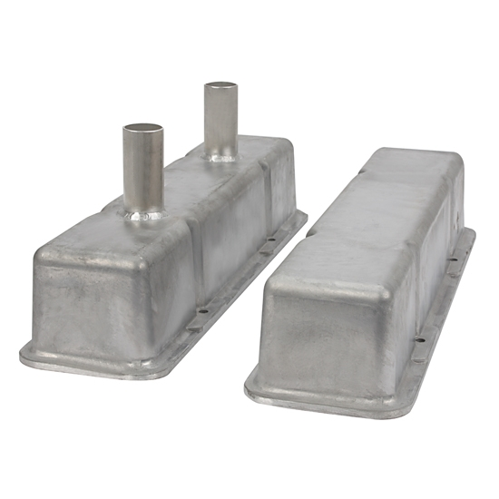 Speedway SBC Chevy 305 350 400 Short Circle Dirt Track Valve Covers w// Tubes