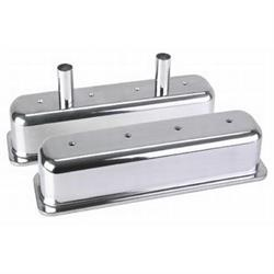 S/B Chevy Tall Aluminum Centerbolt Valve Covers w/Gaskets/Bolts