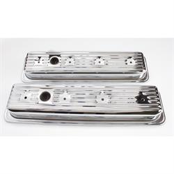 Chrome 1987-Up Small Block Chevy Centerbolt Valve Covers, 1-Hole