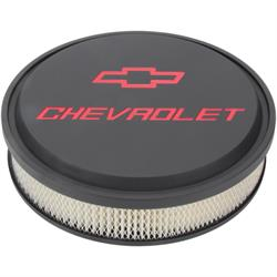 ProForm 141-834 Chevrolet Slant-Edge Air Cleaners, Black