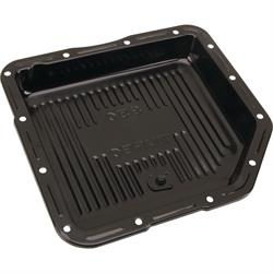 Black Steel GM TH-350 Transmission Pan, 2 Inch Deep