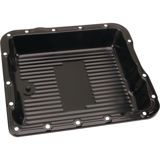 Black Steel GM 700R4-4L60E-4L65E Transmission Pan, 2-5/8 Inch Deep