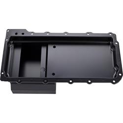 LS Engine Swap Conversion Low Profile Oil Pan, Black, 10 AN