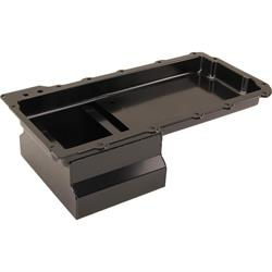 LS Swap Steel Race Oil Pan, 7 Quart, Black, -10 AN Fitting