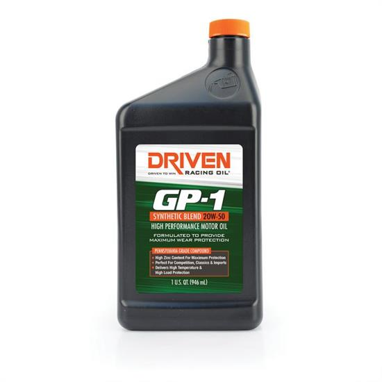 Driven Racing Oil 19506 GP-1 Synthetic Blend 20W50 Oil, 1 Quart