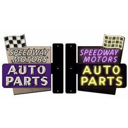 Speedway Motors Steel Flange Sign