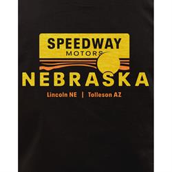 Speedway Motors Nebraska T-Shirt, Black