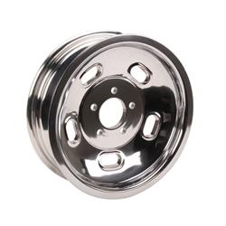Speedway Raw Alloy 15x4.5 Kidney Bean Gasser Wheels, 5 on 4.5 Inch