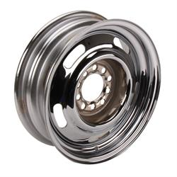 Speedway GM Style 15 Inch Rally Wheel, 4.5 and 4.75 Inch Bolt Pattern