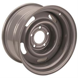 Speedway Steel GM-Style 15 Inch Rally Wheels, 5 on 5 Inch Bolt Pattern