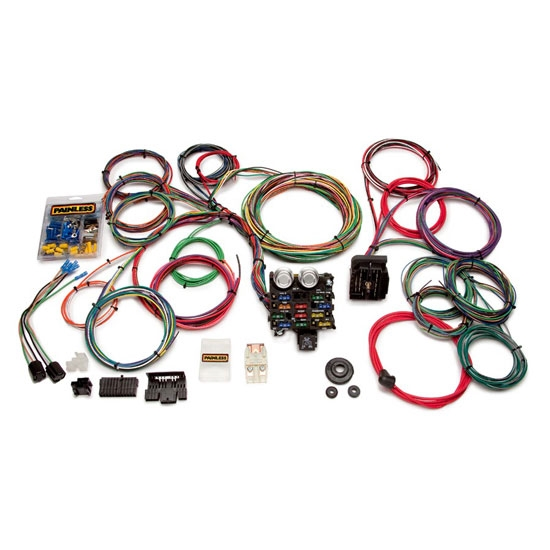 painless wiring 20103 21 circuit universal mucscle car wiring harness rh speedwaymotors com