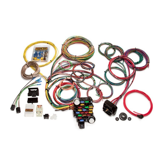 painless wiring 20104 universal 28 circuit muscle car wiring harness rh speedwaymotors com Universal Wiring Harness Diagram universal car stereo wiring harness