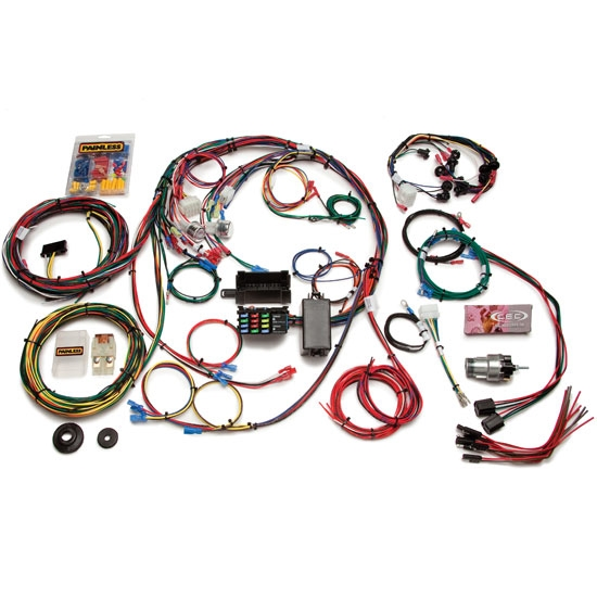 painless wiring 20121 1967 1968 mustang 22 circuit wiring harness rh speedwaymotors com 1968 mustang wiring harness diagram 68 mustang wiring harness