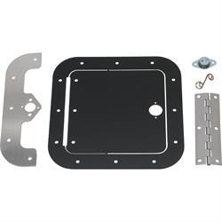 Universal Aluminum Access Door, 6 x 6 Inch, Black