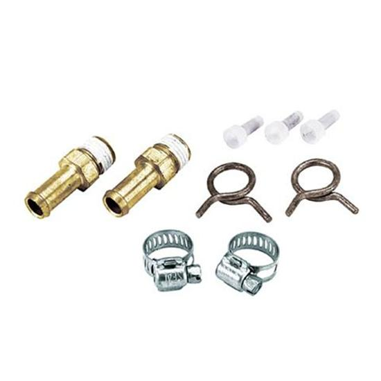 Fuel and Oil Line Hose Nipple Fitting Kit, 3/8 Hose to 1/4 NPT