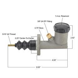Speedway Clutch Master Cylinder - 3/4 Bore