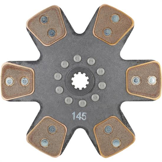 Ace Mfg  10-1/2 In Metallic Clutch Disc, Solid Hub, 1-1/8 In 10-Spline