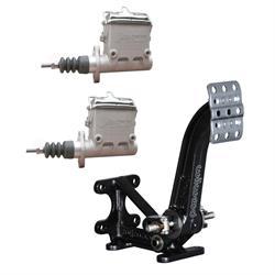 AFCO Dual Master Cylinder Floor Mount Brake Pedal Assembly