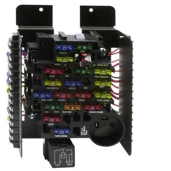 painless wiring 30003 universal 20 circuit fuse block ebay rh ebay com