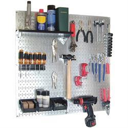 Wall Control 30-WGL-200GV Utility Tool Organizer Kit, Metal Pegboard