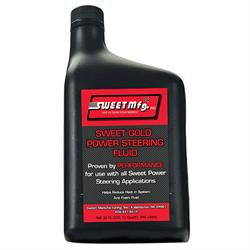 Sweet Mfg 301-30182 Gold Power Steering Fluid, 1 Quart